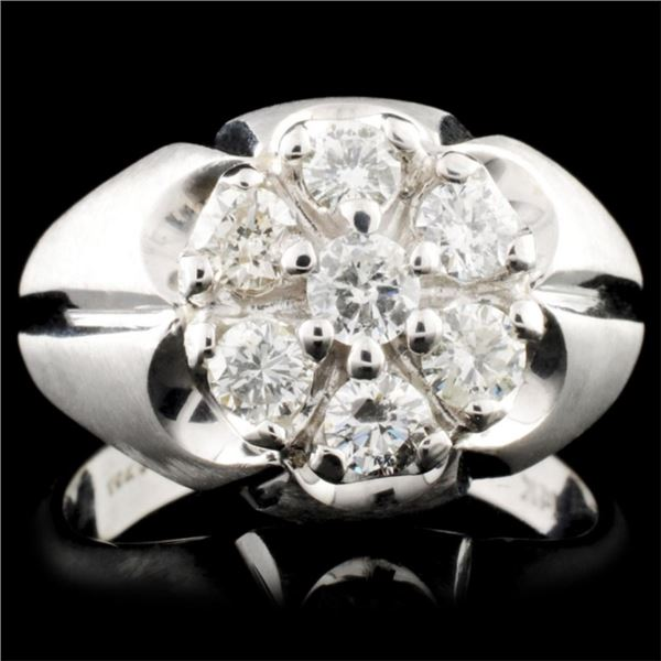 14K White  Gold 1.30ctw Diamond Ring