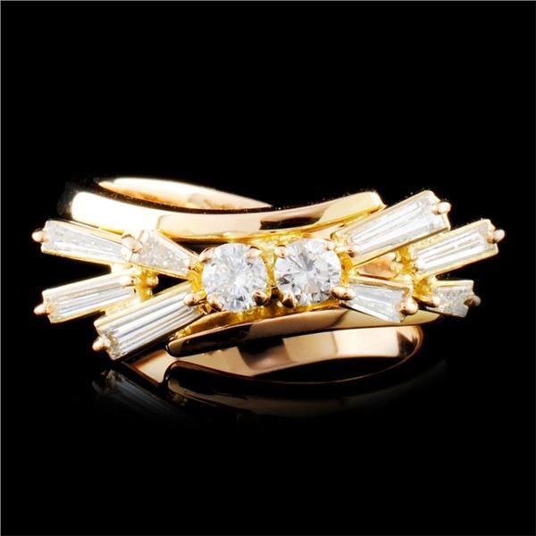 18K Gold 0.54ctw Diamond Ring