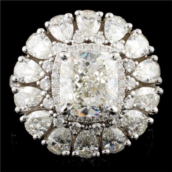 18K Gold 6.22ctw Diamond Ring