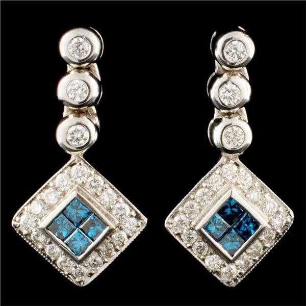 18K Gold 0.82ctw Diamond Earrings