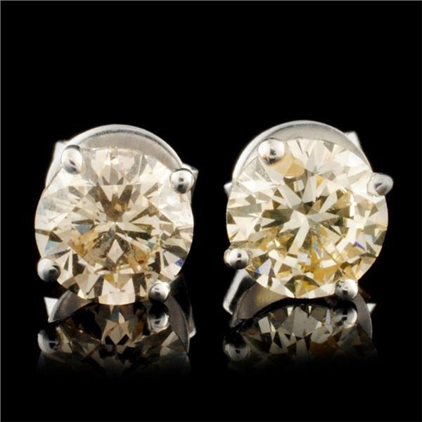 14K Gold 2.06ctw Diamond Stud Earrings