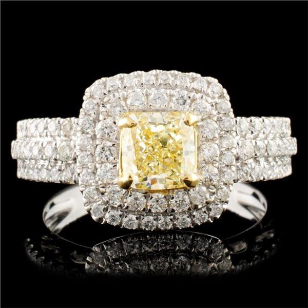 18K Gold 1.30ctw Fancy Diamond Ring