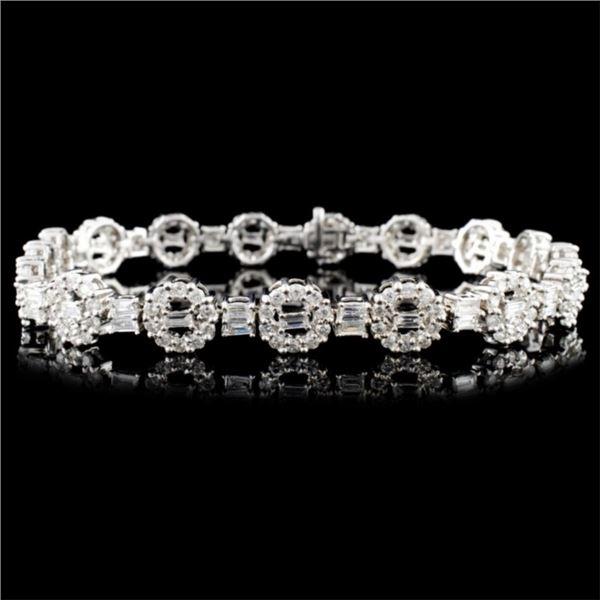 18K Gold 4.54ctw Diamond Bracelet