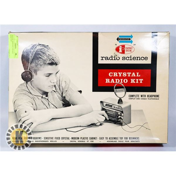 CRYSTAL RADIO KIT VINTAGE REMCO KIT