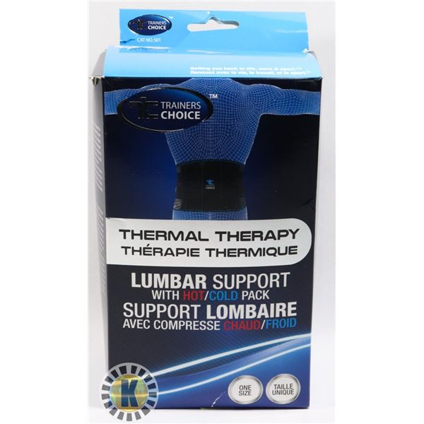 NEW TRAINERS CHOICE THERMAL THERAPY LUMBAR