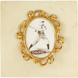 1915 PM1 Ornate Frame Pins Frank Chance. The 19