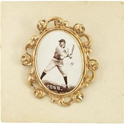 1915 PM1 Ornate Frame Pins Ty Cobb. The greates
