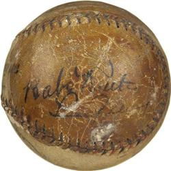 1928 Babe Ruth & Lou Gehrig Signed Baseball. In