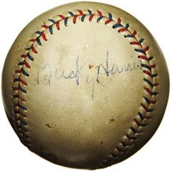 1930's Bucky Harris Signed Baseball. Pick your