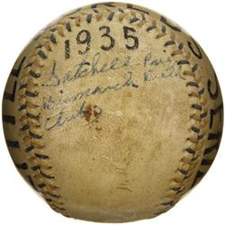 The Earliest Known Satchel Paige Single Signed B