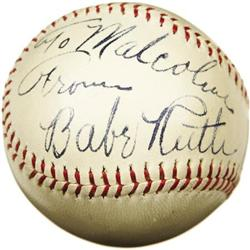 Late 1930's Babe Ruth Single Signed Baseball, PS