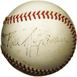 1944 Bill McGowan Signed Baseball. Once signed