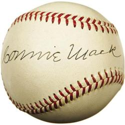 Circa 1950 Connie Mack Signed Baseball. One of