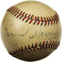 "1950's Rogers Hornsby Single Signed Baseball. ""A"