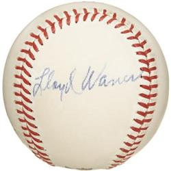 1950's Lloyd Waner Signed Baseball. The look of