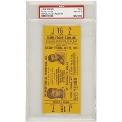 1965 Ali vs. Liston Full Ticket PSA NM-MT 8. Ph