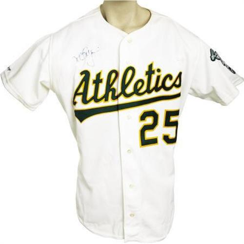 half off b88d2 81805 1991 Mark McGwire Game Worn Jersey. A fifth con