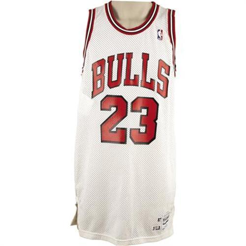 half off 2e796 1abdc 1987-88 Michael Jordan Game Worn Jersey
