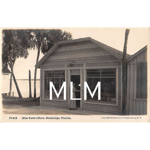 Miss Kate's Store Front Rockledge, Florida Photo Postcard