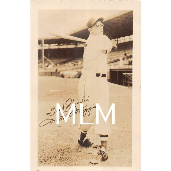 Best Wishes Dom Dimaggio Boston Red Sox Baseball Player Photo Postcard