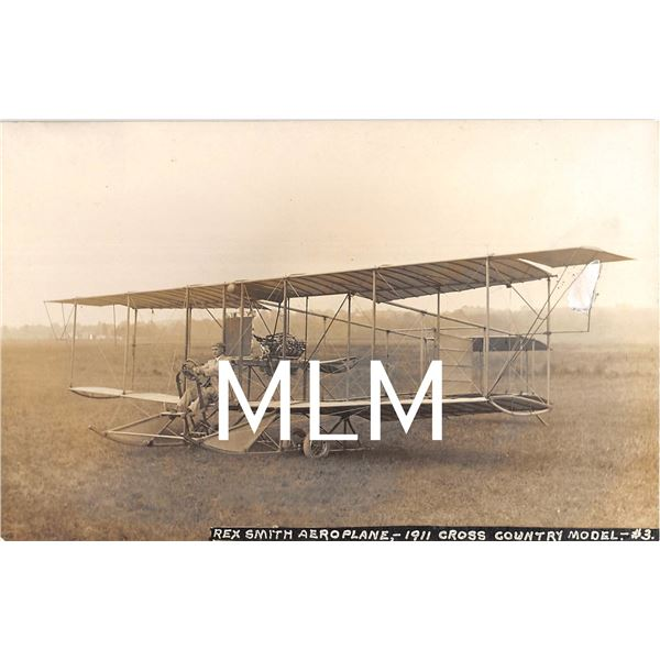 2 Rex Smith Aeroplane College Park, Maryland Ross Photo Postcards