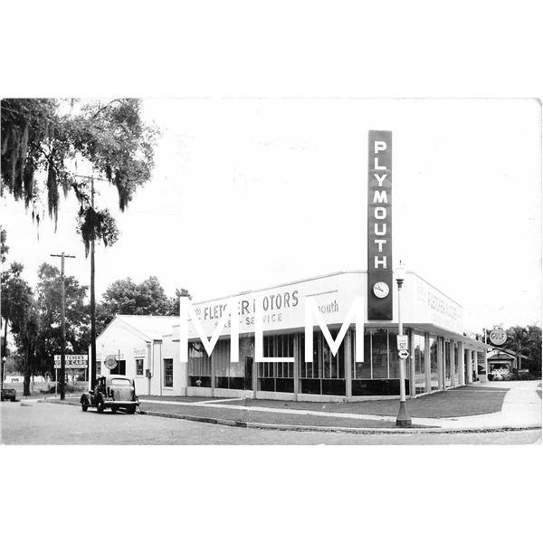 Fletcher Motors Plymouth Auto Dealership Orlando, Florida Photo Postcard