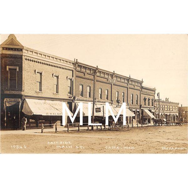 Store Front Main Street Capac, Michigan Pesha Photo Postcard