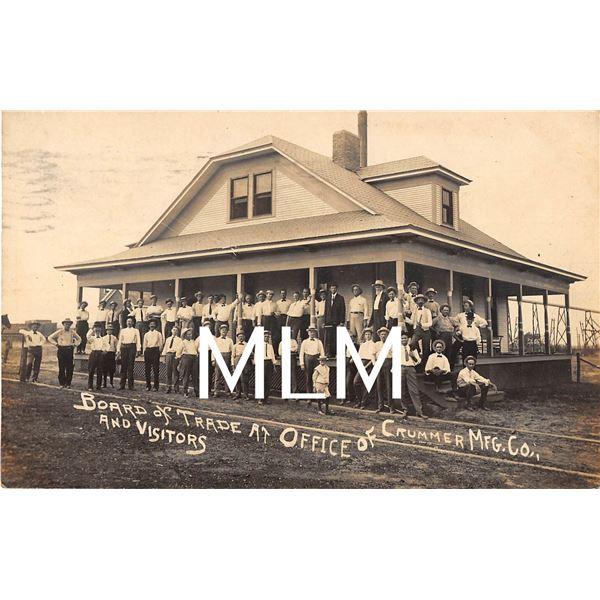 Board of Trade Office of Crummer MFG. Co. Paris, Texas, Photo Postcard