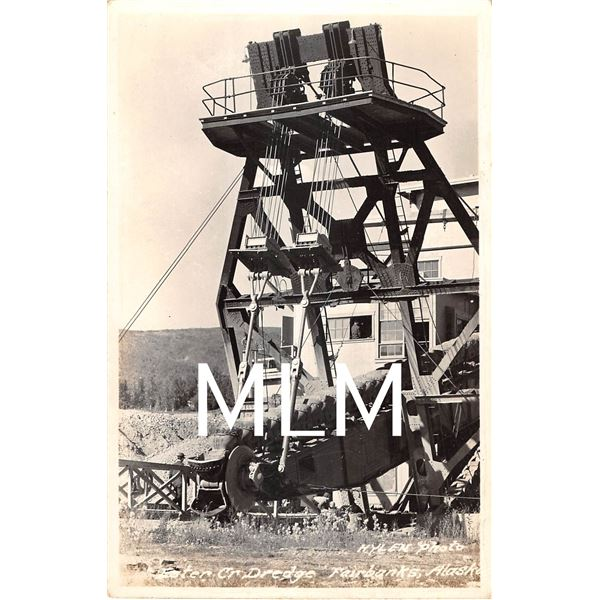 Ester Cr Dredge Mining Fairbanks, Alaska Photo Postcard