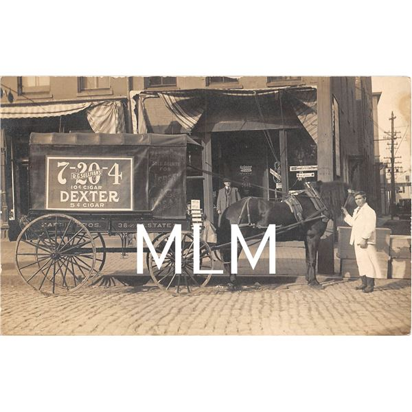 RG Sullivan's Cigar & Jersey Ice Cream Delivery Wagon Moxie Sign Store Front Photo PC