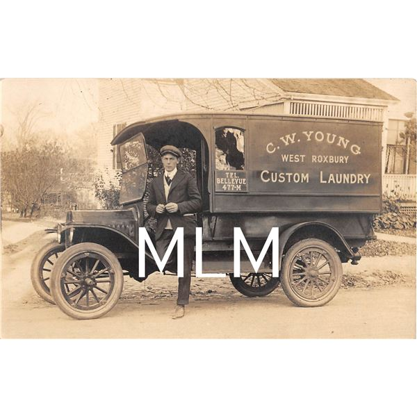 CW Young Custom Laundry Delivery Truck West Roxbury, Massachusetts Photo PC