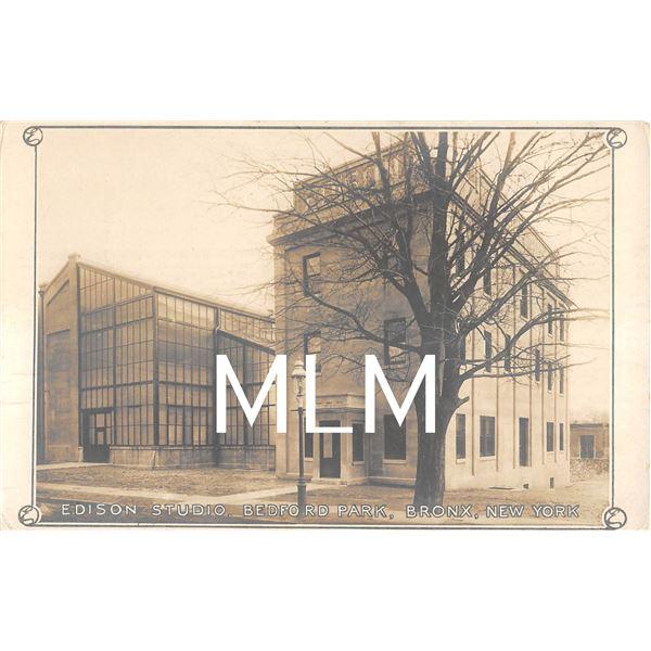 Edison Studio, Bedford Park, Bronx, New York Photo Postcard
