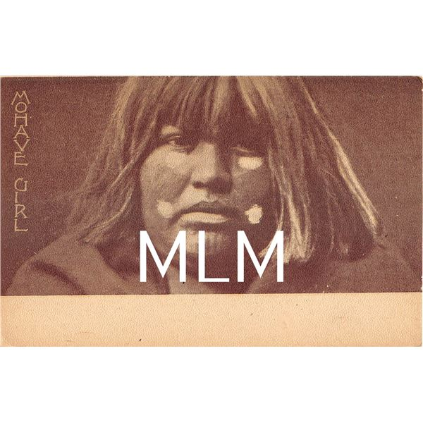 Mohave Girl Native American E.S. Curtis Postcard
