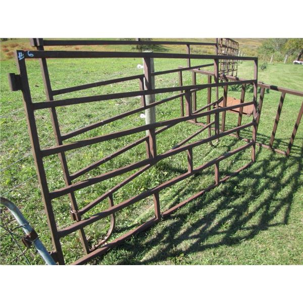 Corral gate 8 ft long by 4 ft High 1 and 1/4 inch tubing
