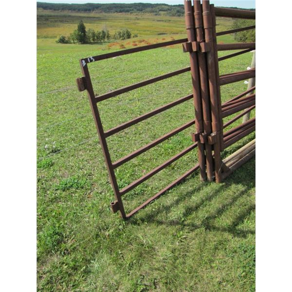 wheeled Corral gate 16 foot 1 in 1/4 inch tubing