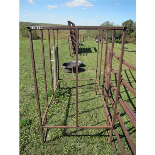 feed bunk 69 in by 39 in or could be used around the water trough so the cattle couldn't crowd it