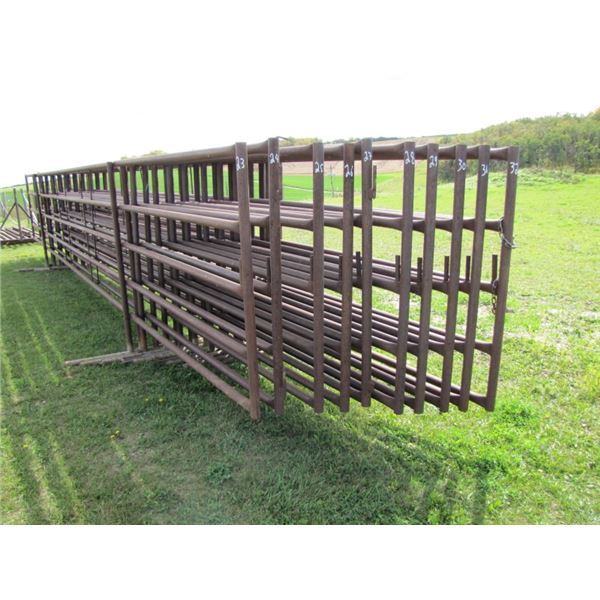 free-standing Corral panel 31 ft long 65 inches high