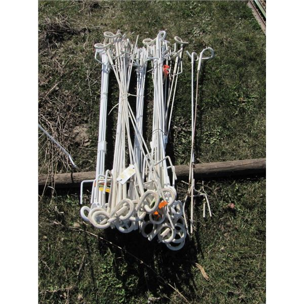 lot of 60 Gallagher pigtail standards 33 in