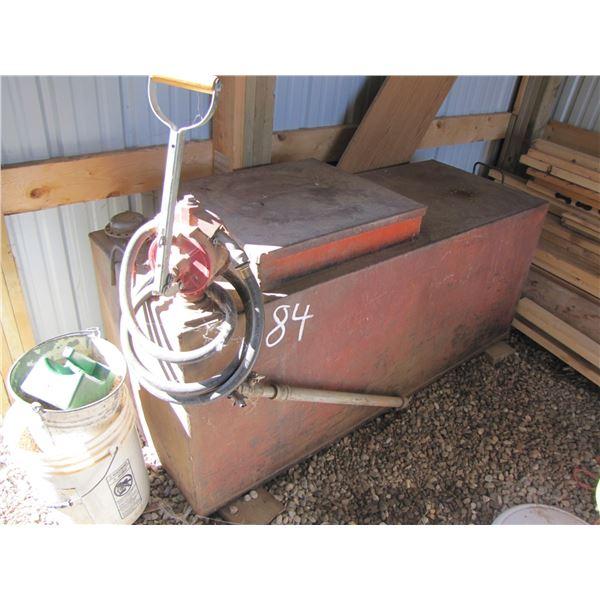slip tank 100 gallon with manual pump and storage box