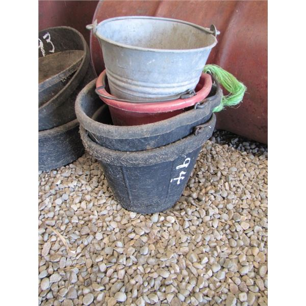 lot of four buckets