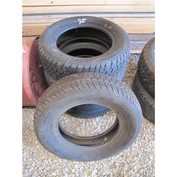 lot assorted tires, 3 - 225/ 60 R-16; 1 - 205 / 70 R 15