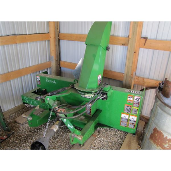 Frontier Model sb1174 three point hitch snowblower two stage 74 in serial number 1xfsb11xth0170324