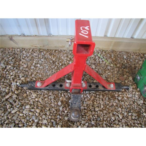 three point hitch receiver - red