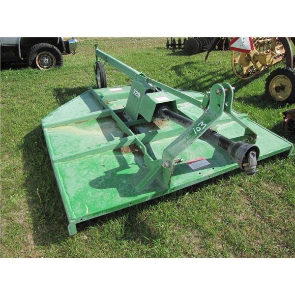 Farm King 720 three point hitch mower; rough cut