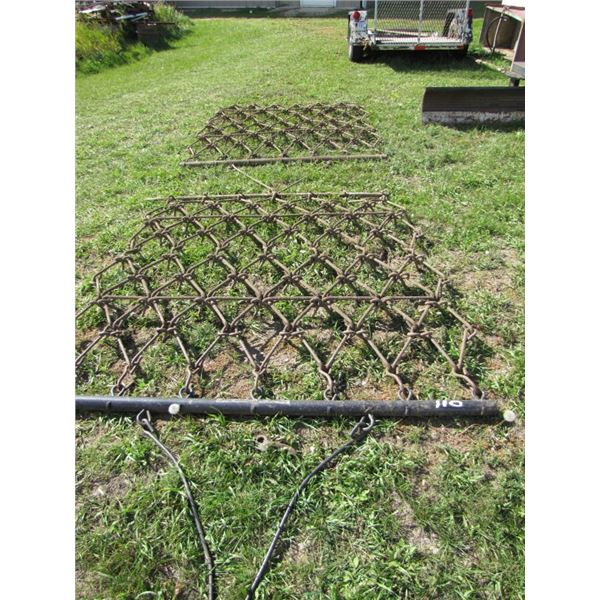 lot of two sections of 5 foot drag Harrow