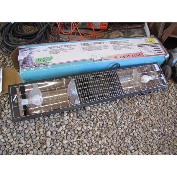 fluorescent or incandescent 1500 watt heater fan shop light