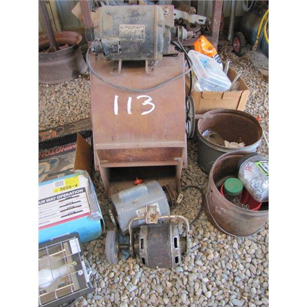 blower fan with three motors, grinder works