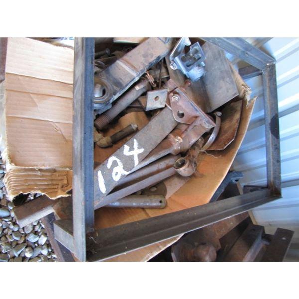 miscellaneous small iron, chain, hitches Etc