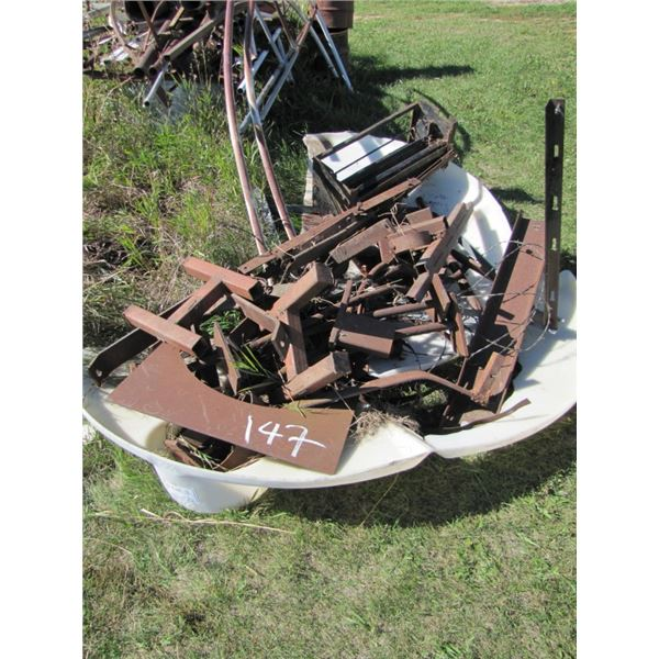 pile of assorted a scrap iron
