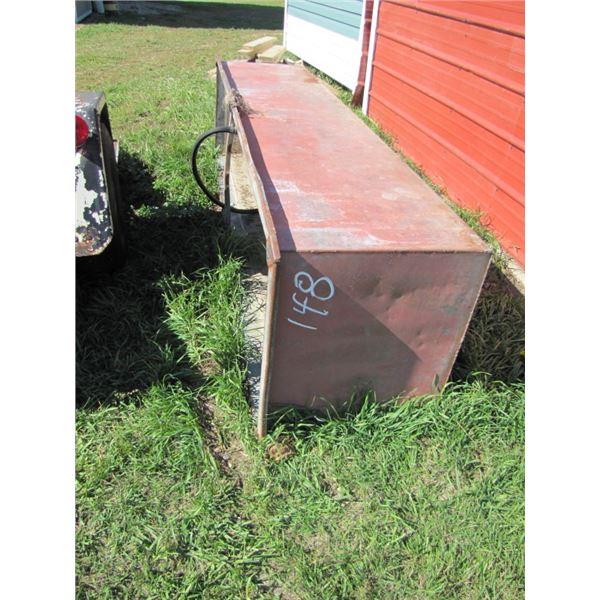 "metal stock trough 24"" wide x 8 foot long"